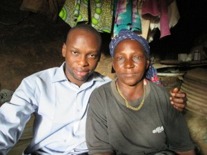 With Anatu Sunday, 67, who lost her 20-year-old boy in an attack